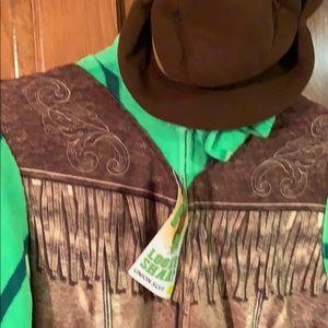 New Cowboy Cactus Sheriff Men's Union Suit XL